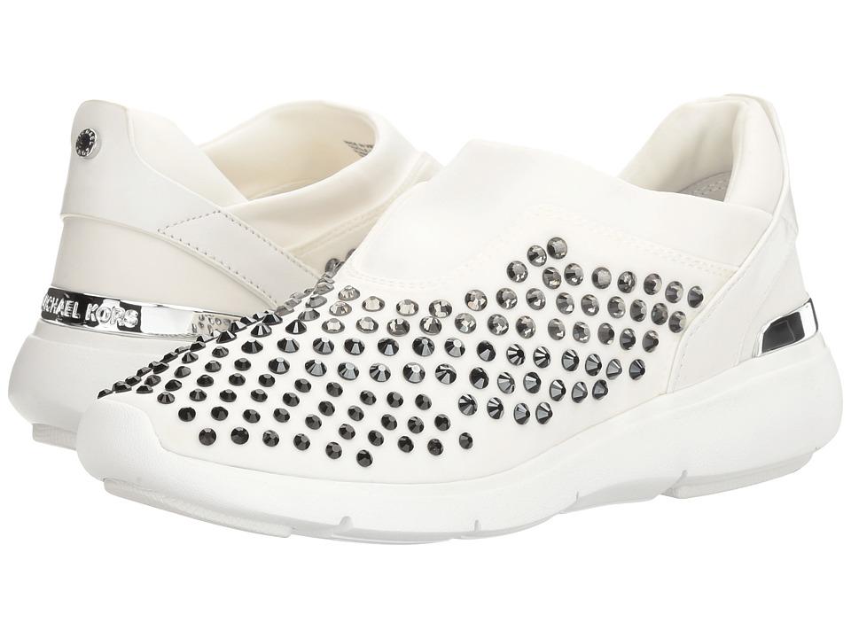 MICHAEL Michael Kors Ace Trainer (Optic White Scuba/Vachetta/Stones) Women