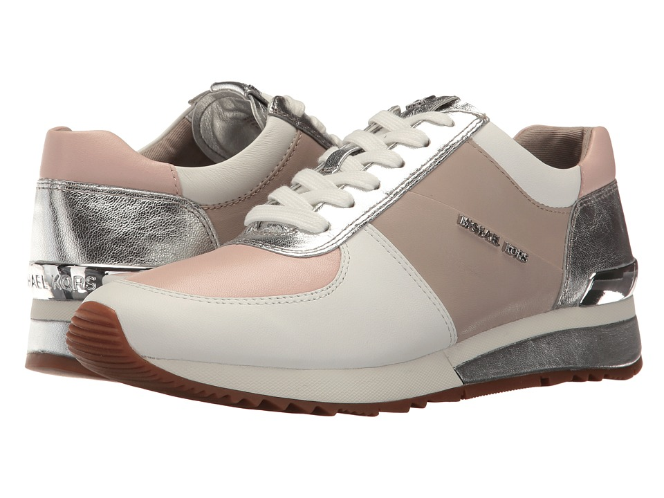 MICHAEL Michael Kors Allie Wrap Trainer (Cement/Soft Pink Metallic Nappa/Suprema Nappa Sport) Women