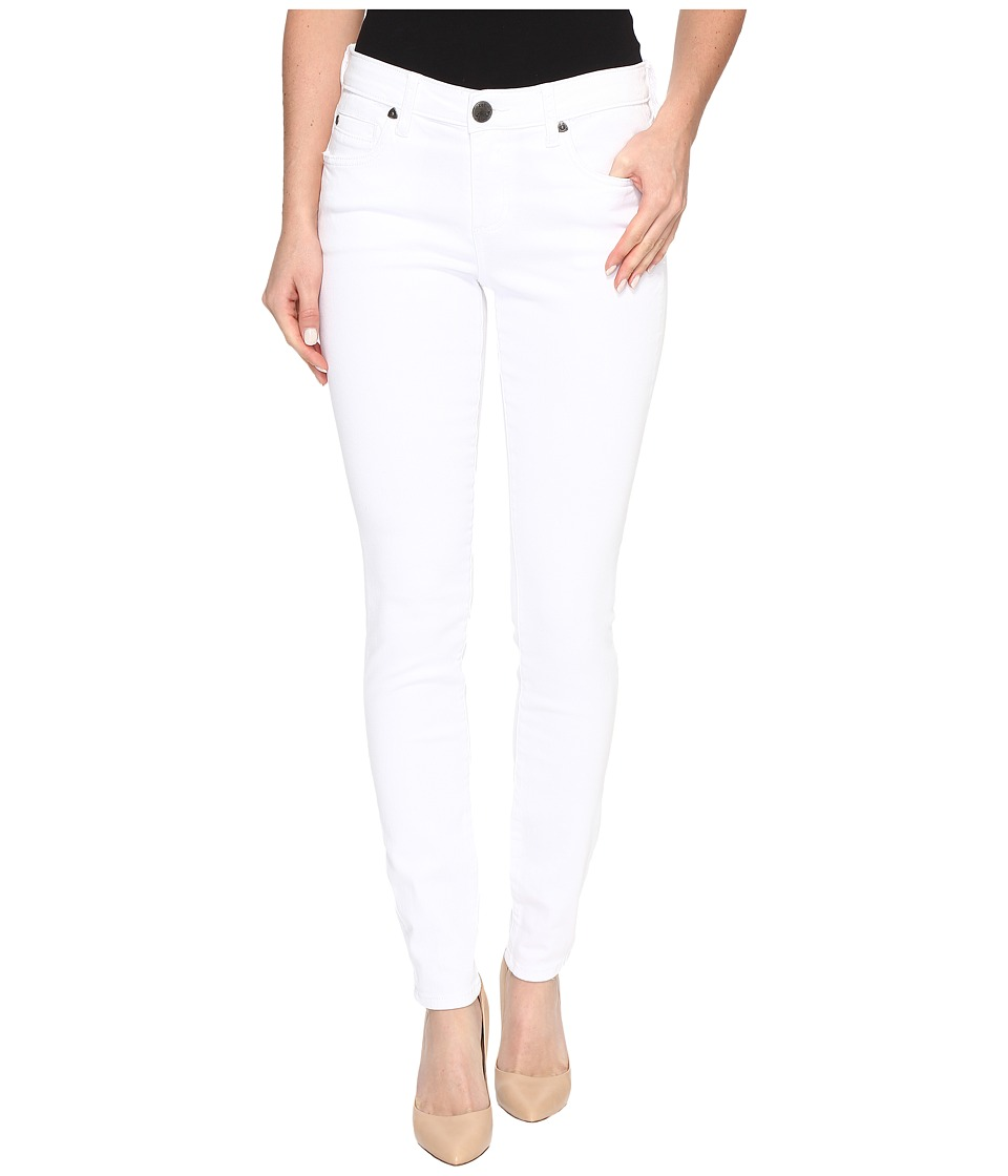 KUT from the Kloth Mia Toothpick Skinny in Optical White (Optical White) Women