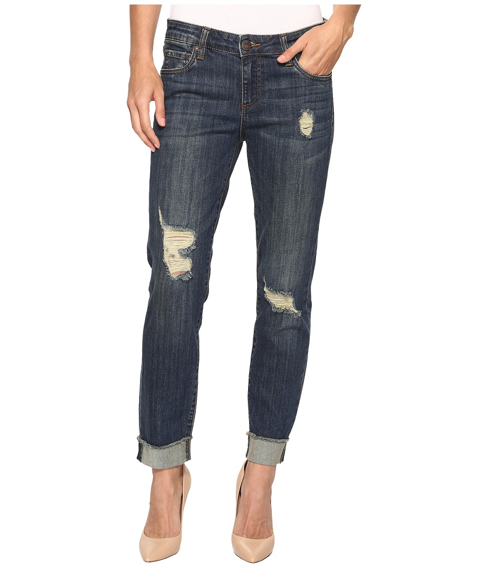 KUT from the Kloth Amy Crop Straight Leg in Animation (Animation/Dark Stone Base Wash) Women