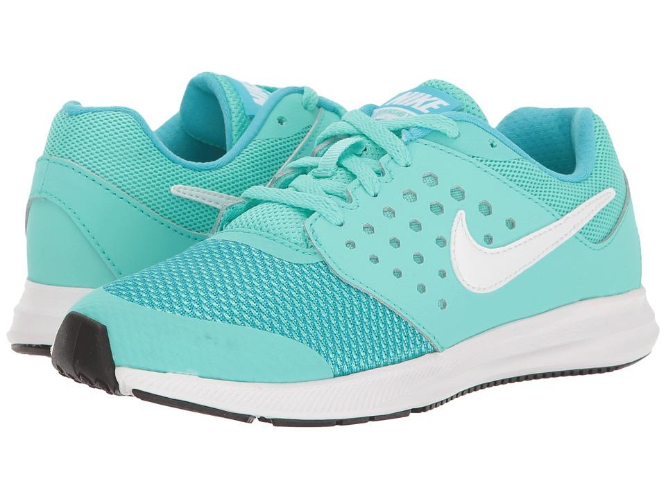 Nike Kids Downshifter 7 (Little Kid) (Hyper Turquoise/White/Chlorine Blue/Black) Girls Shoes