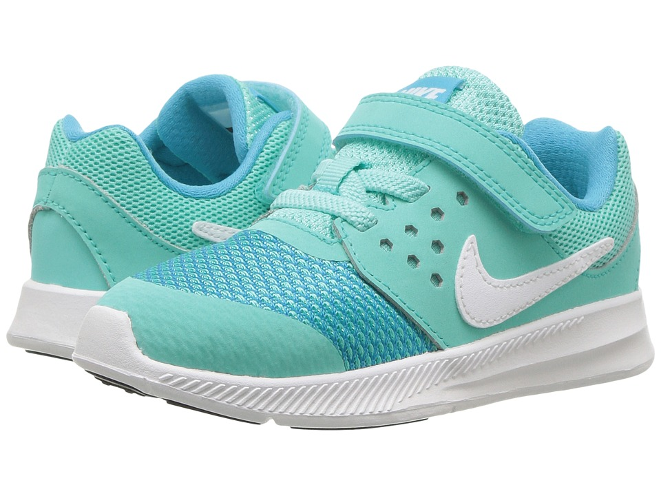 Nike Kids Downshifter 7 (Infant/Toddler) (Hyper Turquoise/White/Chlorine Blue/Black) Girls Shoes