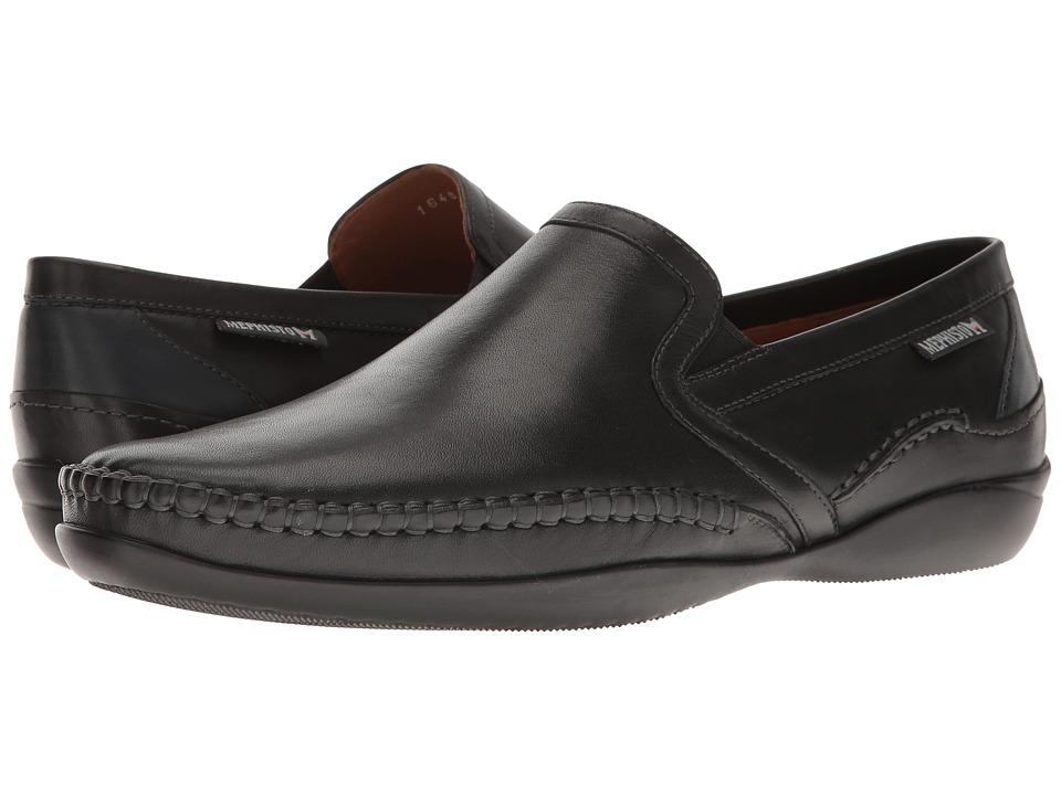 Mephisto - Irwan (Black/Navy Joachim) Mens Slip on  Shoes