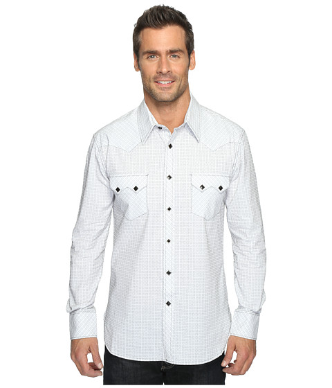 Rock and Roll Cowboy Long Sleeve Snap B2S9061 - White