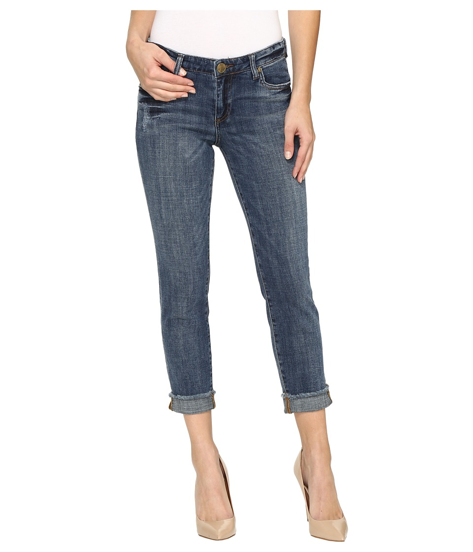 KUT from the Kloth Amy Crop Straight Leg in Dominant (Dominant/Medium Base Wash) Women