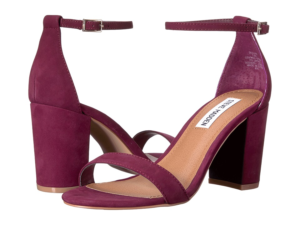 Steve Madden Declair (Burgundy Nubuck) High Heels