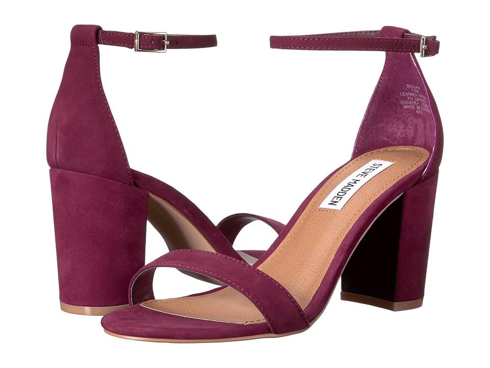 Steve Madden Exclusive - Declair Block Heeled Sandal (Burgundy Nubuck) High Heels