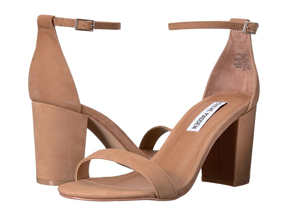 Steve Madden Exclusive - Declair Block Heeled Sandal (Camel Nubuck) High Heels