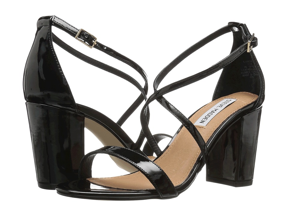 Steve Madden Diamonde (Black Patent) High Heels