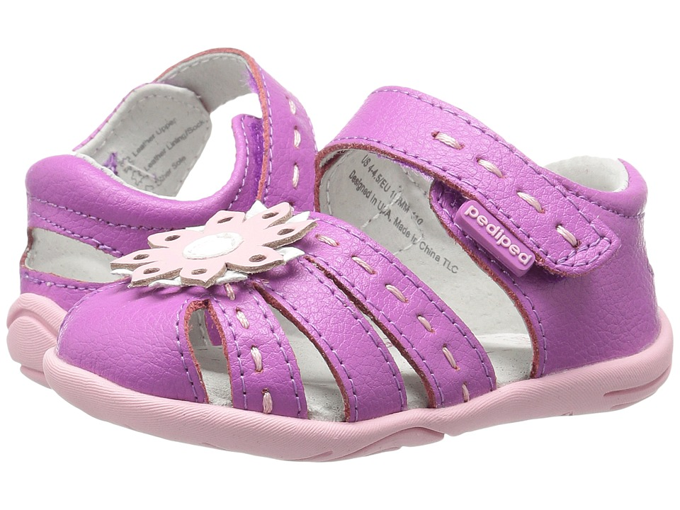 pediped Sabine Grip n Go (Toddler) (Purple Berry) Girls Shoes