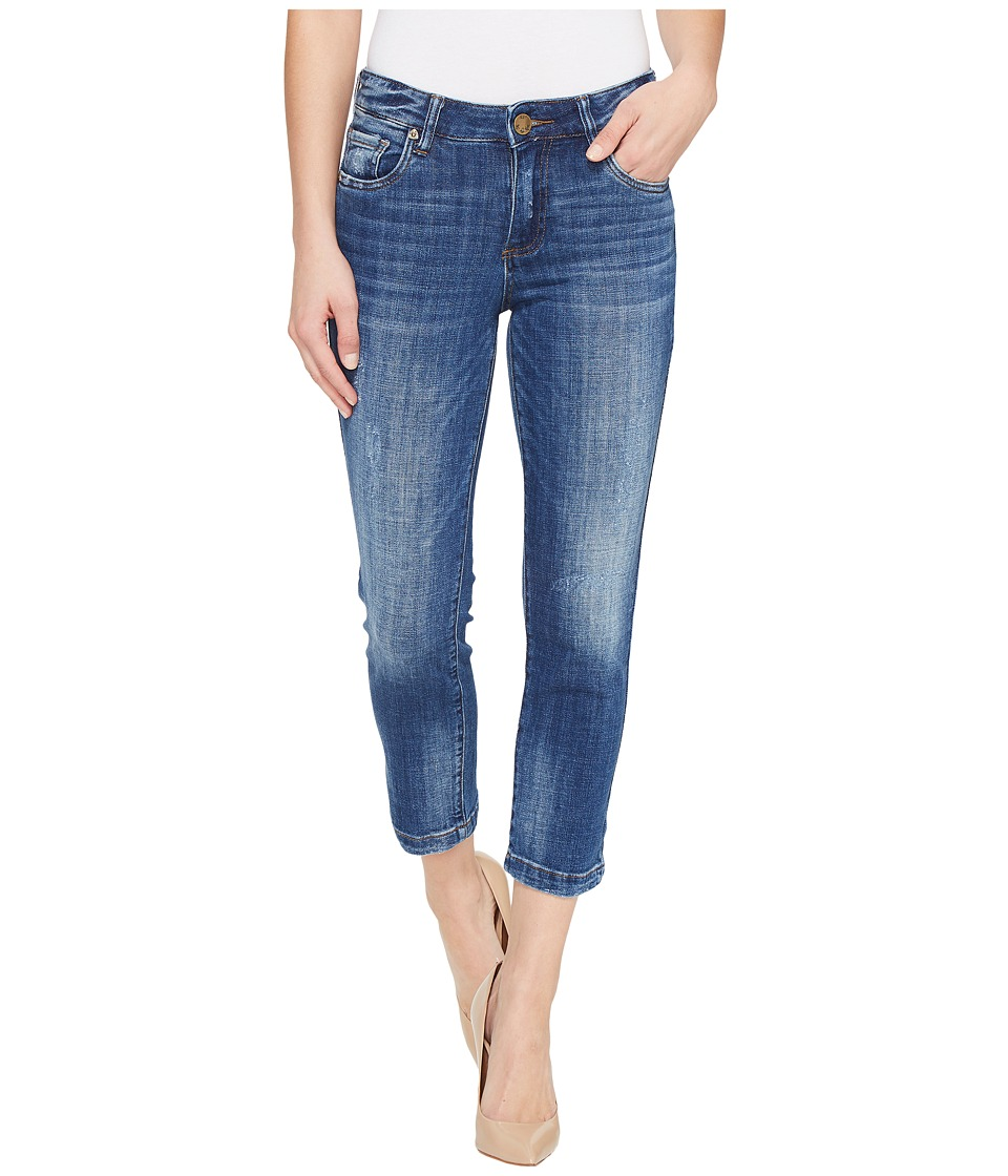 KUT from the Kloth Lauren Crop Straight Leg in Entrusted (Entrusted/Medium Base Wash) Women