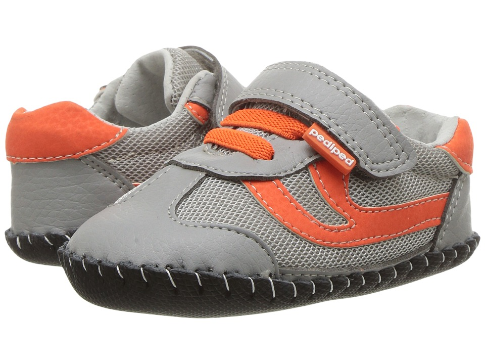pediped Cliff Originals (Infant) (Grey/Orange) Boy's Shoes