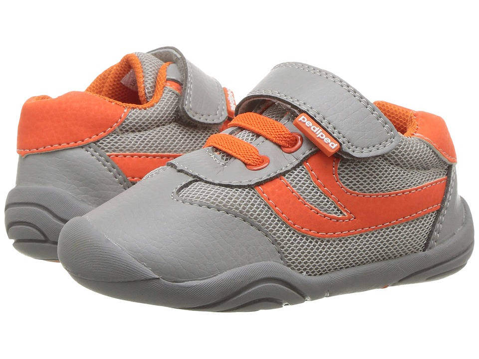 pediped - Cliff Grip n Go (Toddler) (Grey/Orange) Boys Shoes