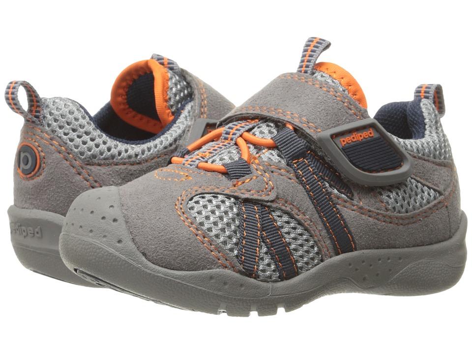 pediped Renegade Flex (Toddler/Little Kid) (Grey/Orange) Boy's Shoes