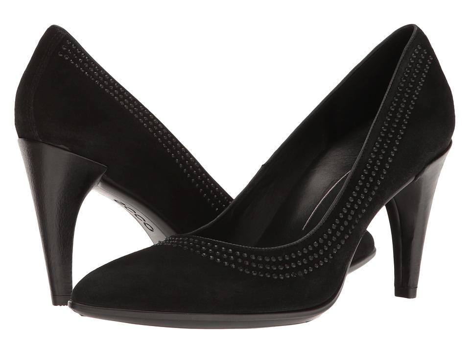 ECCO 75 Embellished Pump (Black) High Heels