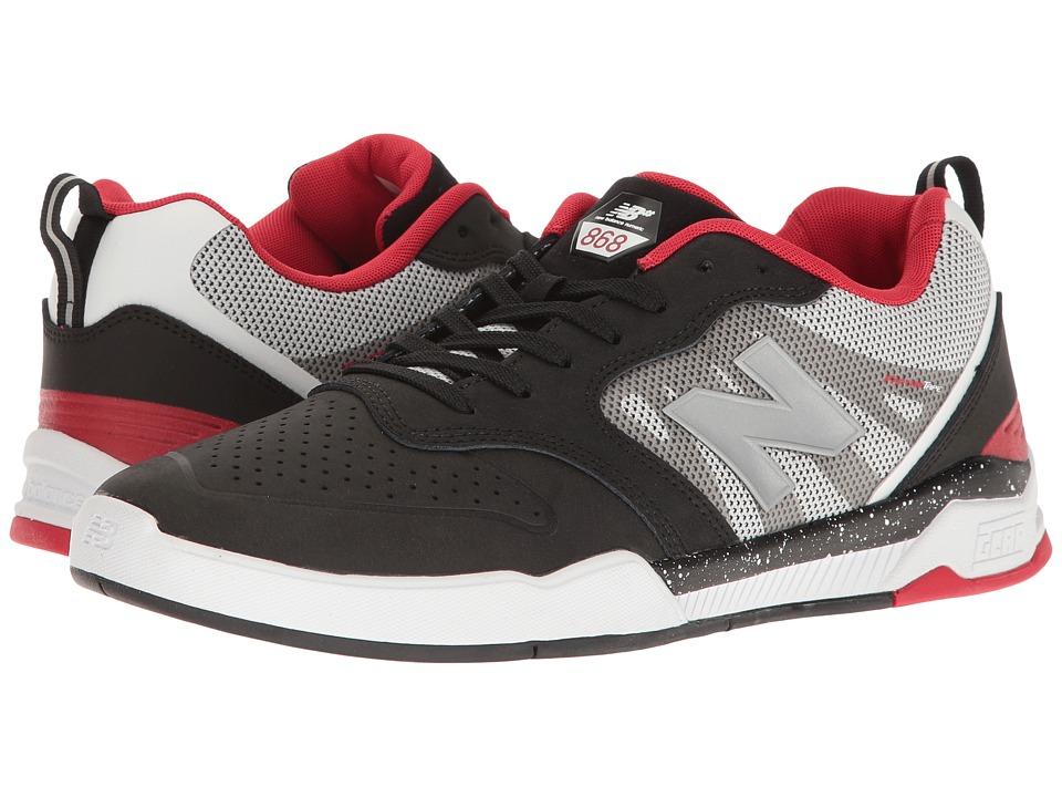 New Balance Numeric - NM868 (Black/White/Red) Mens Skate Shoes