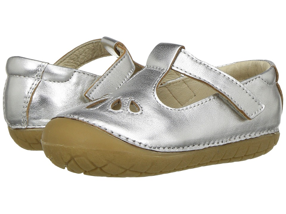Old Soles - Pave Petal (Infant/Toddler) (Silver) Girls Shoes