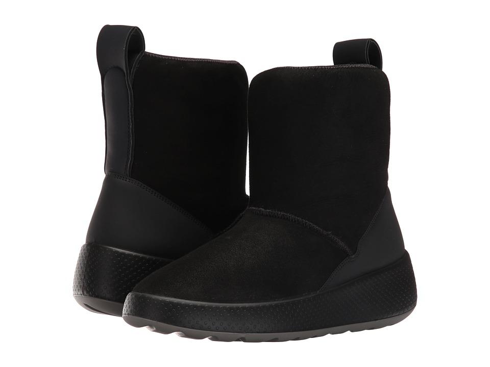 ECCO Ukiuk Short Boot (Black/Black) Women