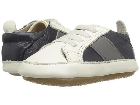 Old Soles Gig Shoe (Infant/Toddler) - White/Grey/Navy