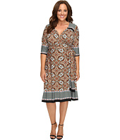 Kiyonna - Beguiling Border Print Dress