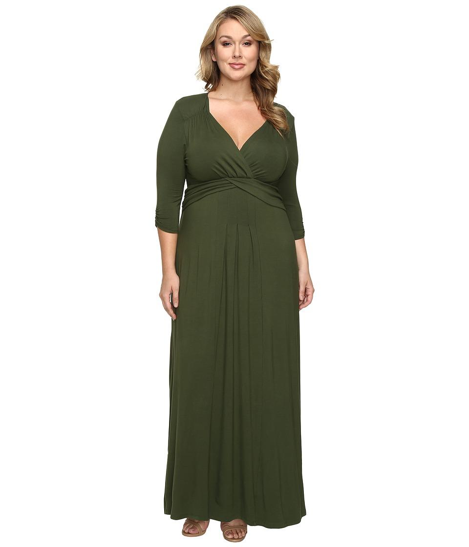 Kiyonna Desert Rain Maxi Dress (Olive You) Women