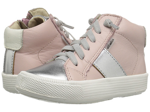 Old Soles Top Shelf (Toddler/Little Kid) - Powder Pink/Silver/White