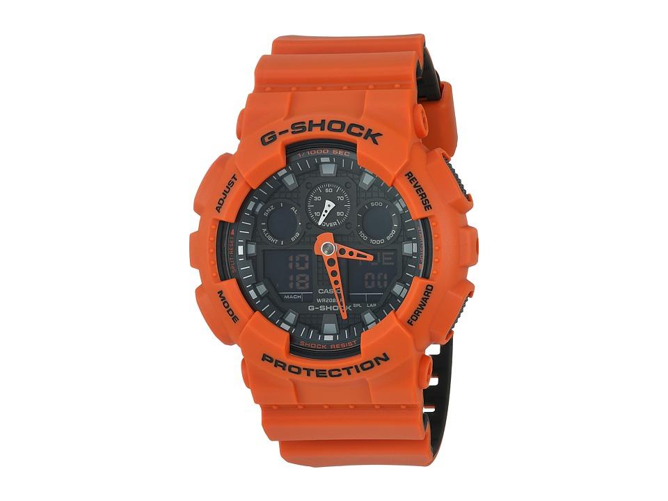 G-Shock - GA-100L (Orange) Sport Watches