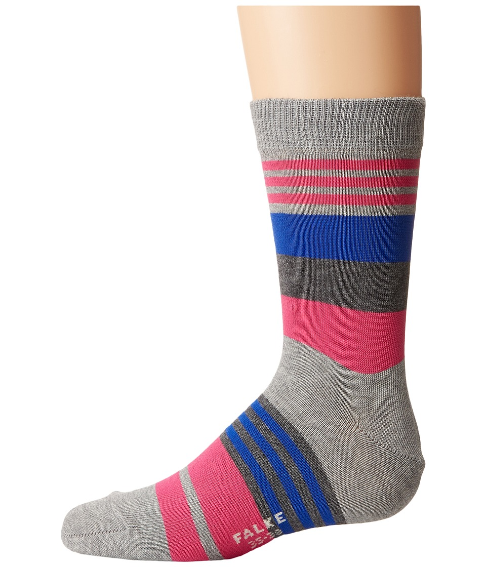 Falke - Irregular Stripe Socks (Toddler/Little Kid/Big Kid) (Schiefer) Crew Cut Socks Shoes