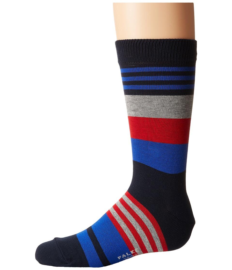 Falke - Irregular Stripe Socks (Toddler/Little Kid/Big Kid) (Marine) Crew Cut Socks Shoes
