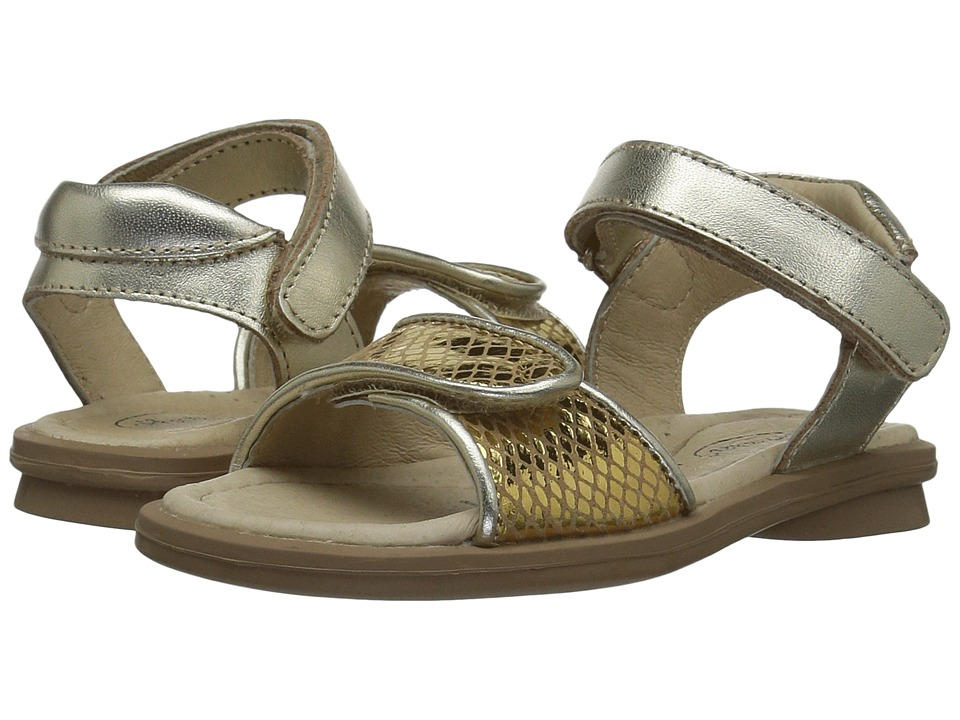 Old Soles Martini Sandal (Toddler/Little Kid) (Gold Snake/Gold) Girls Shoes