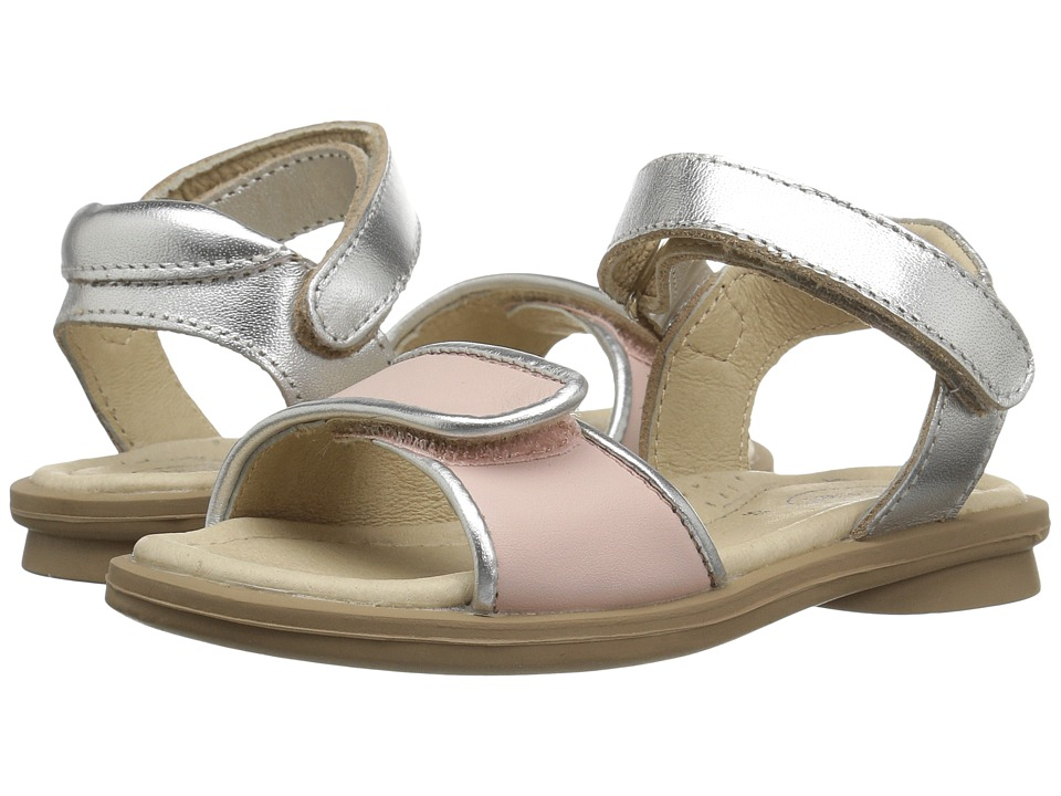 Old Soles Martini Sandal (Toddler/Little Kid) (Powder Pink/Silver) Girls Shoes