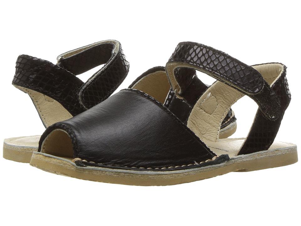 Old Soles Kazbar Sandal (Toddler/Little Kid) (Black/Black Snake) Girls Shoes