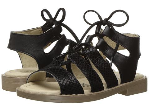 Old Soles Salted Sandal (Toddler/Little Kid) - Black Snake/Black