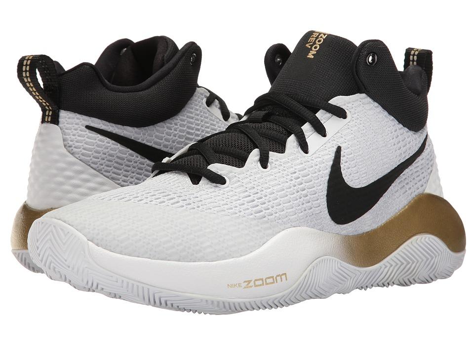 Nike Zoom Rev 2017 (White/Black/Metallic Gold/Pure Platinum) Men