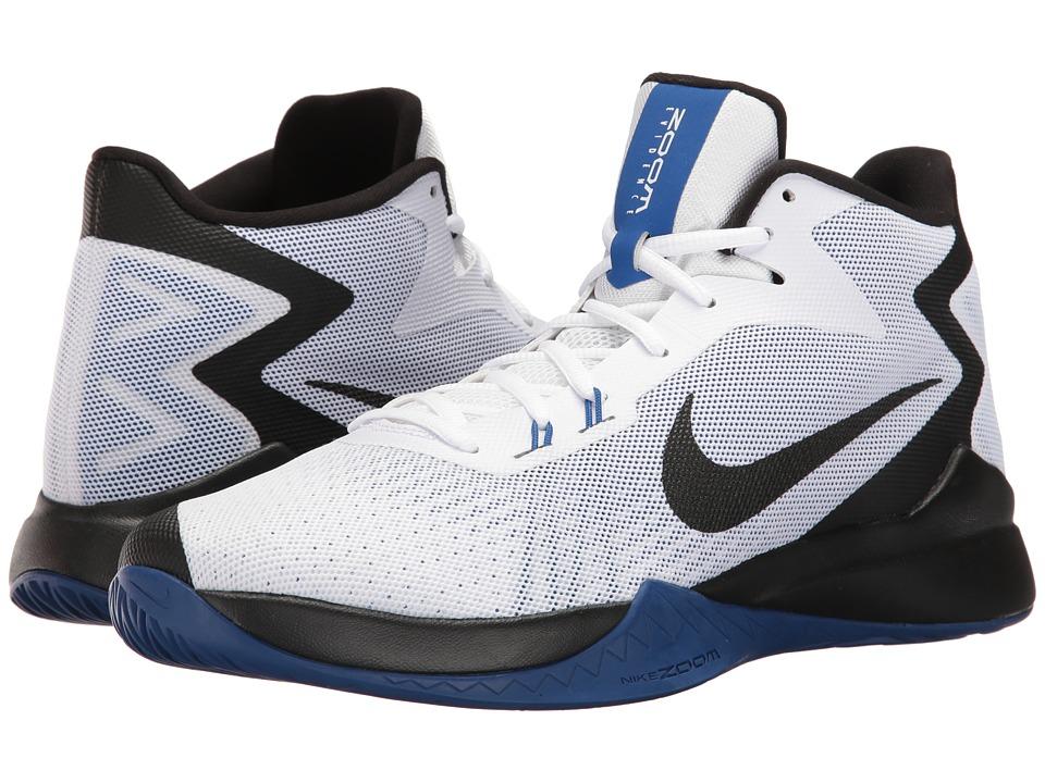 Nike - Zoom Evidence (White/Black/Varsity Royal) Men's Basketball Shoes