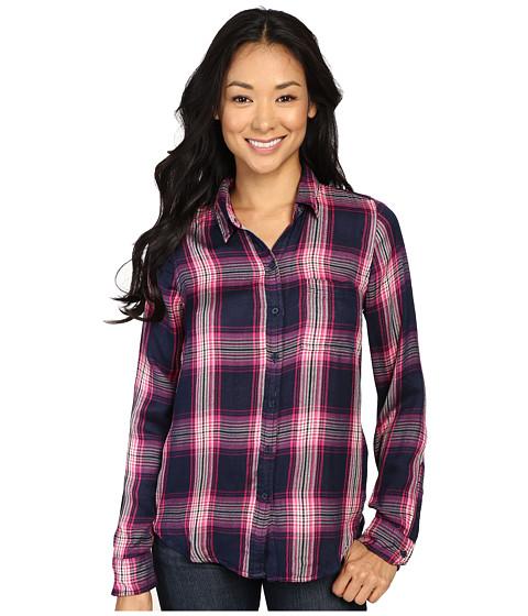 Lucky Brand Duo Fold Plaid Shirt - Pink Multi