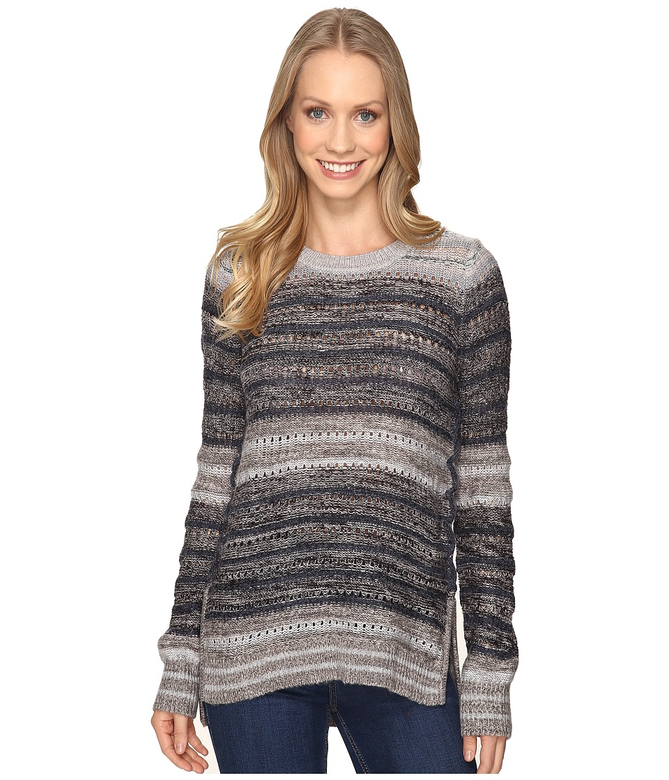 Lucky Brand Striped Lace-Up Pullover (Multi Stripe) Women