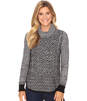 Lucky Brand - Side Zip Pattern Turtleneck