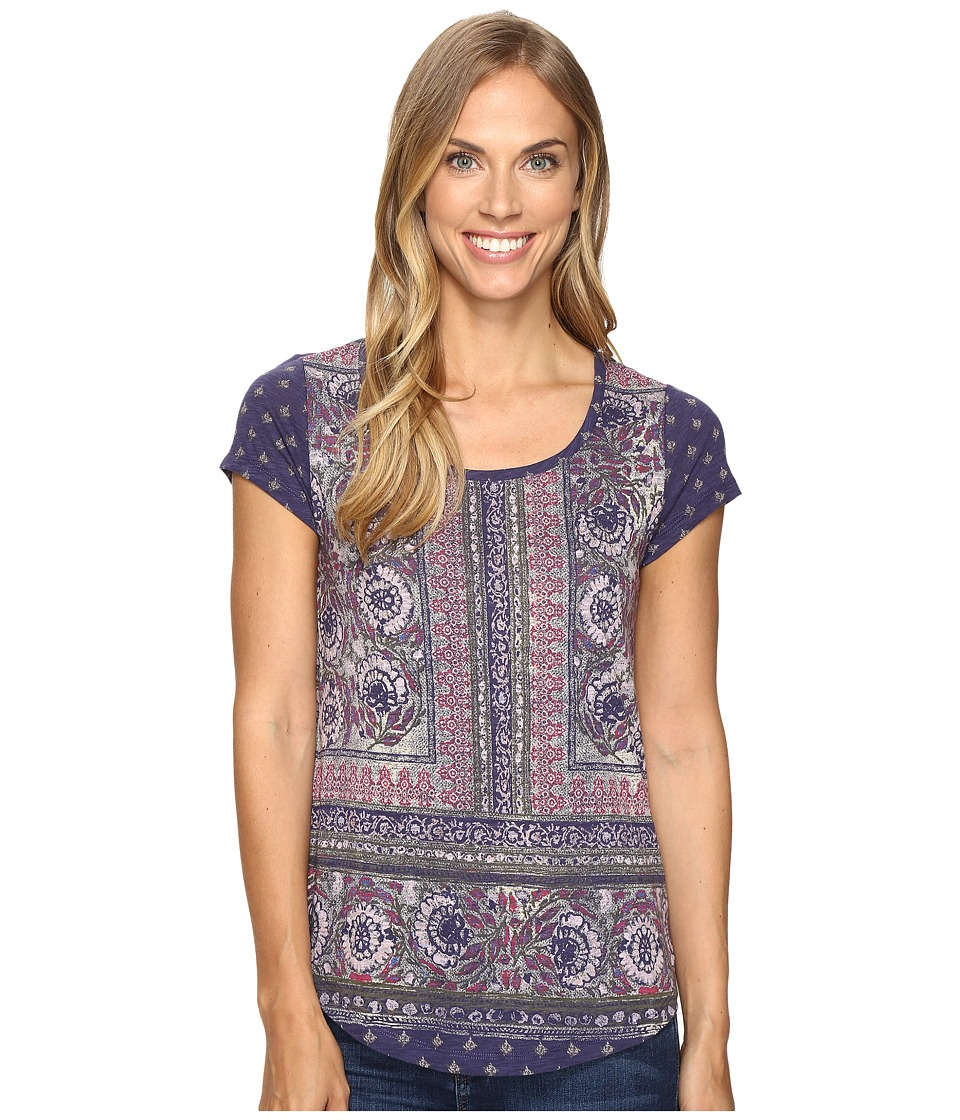 Lucky Brand Painted Border Tee (Blue Multi) Women