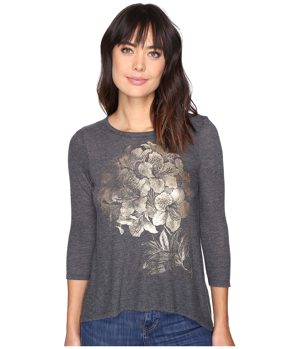 Lucky Brand Gold Azalea Tee (Black Beauty) Women