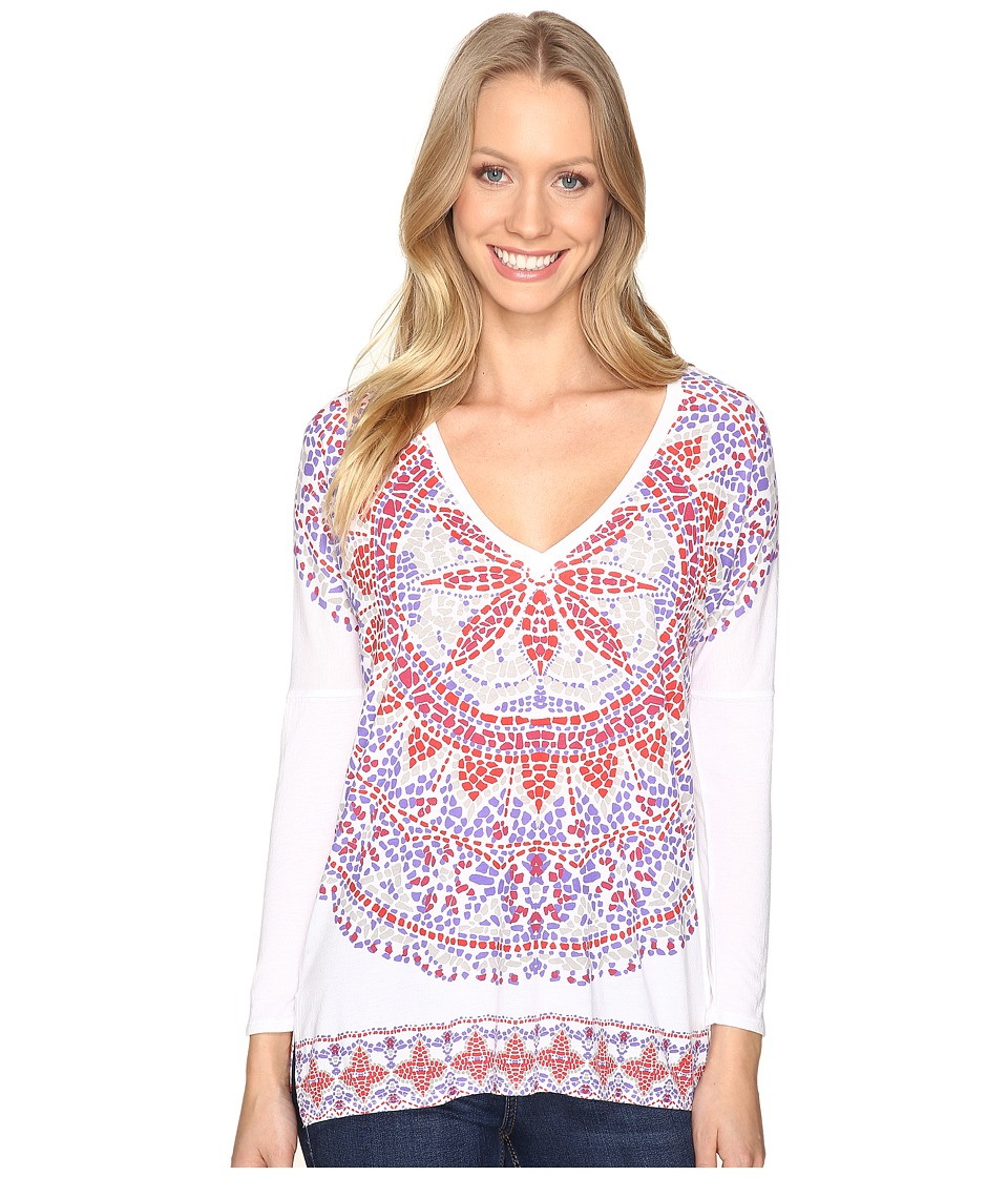 Lucky Brand Border Mandala Tee (Natural Multi) Women