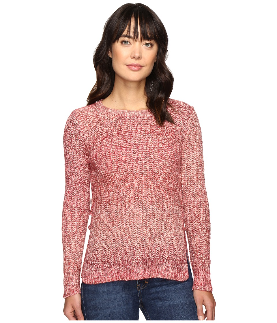 Lucky Brand Omber Lace-Up Pullover (Red Multi) Women