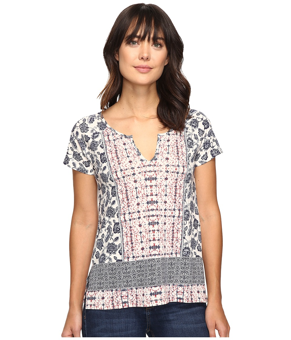 Lucky Brand Placed Print Tee (Multi) Women