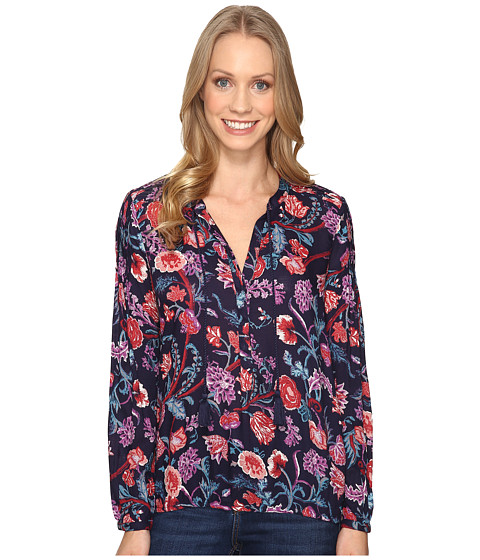 Lucky Brand Tassle Floral Blouse