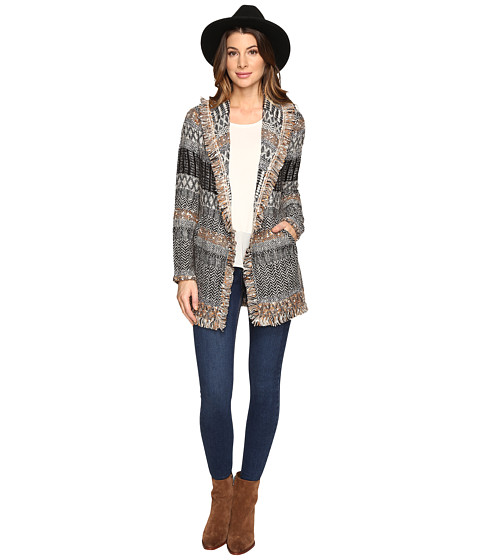 Lucky Brand Women S Blanket Cardigan Natural Multi Sweater