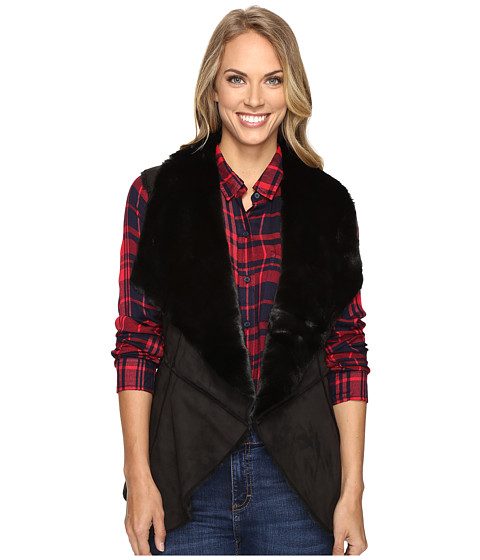 Lucky Brand Faux Shearling Waterfall Vest