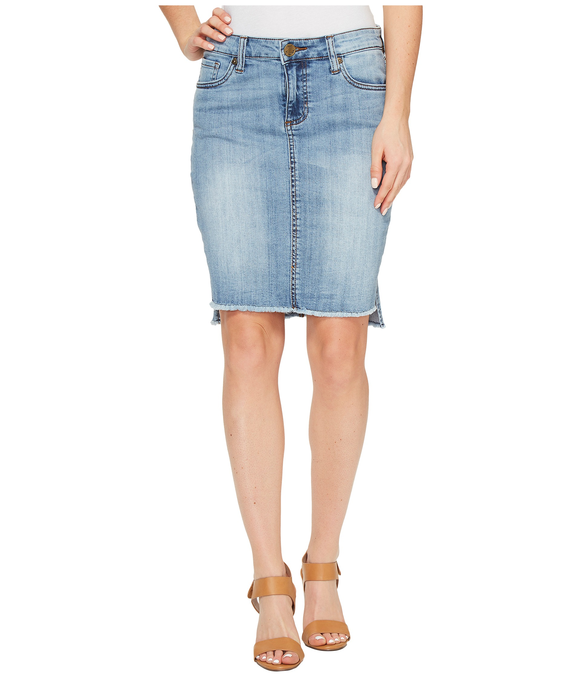 kut from the kloth connie hi low skirt in dashing at