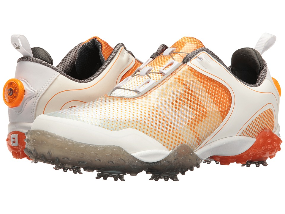 FootJoy - Freestyle Cleated Saddle BOA (White/Melon) Mens Golf Shoes