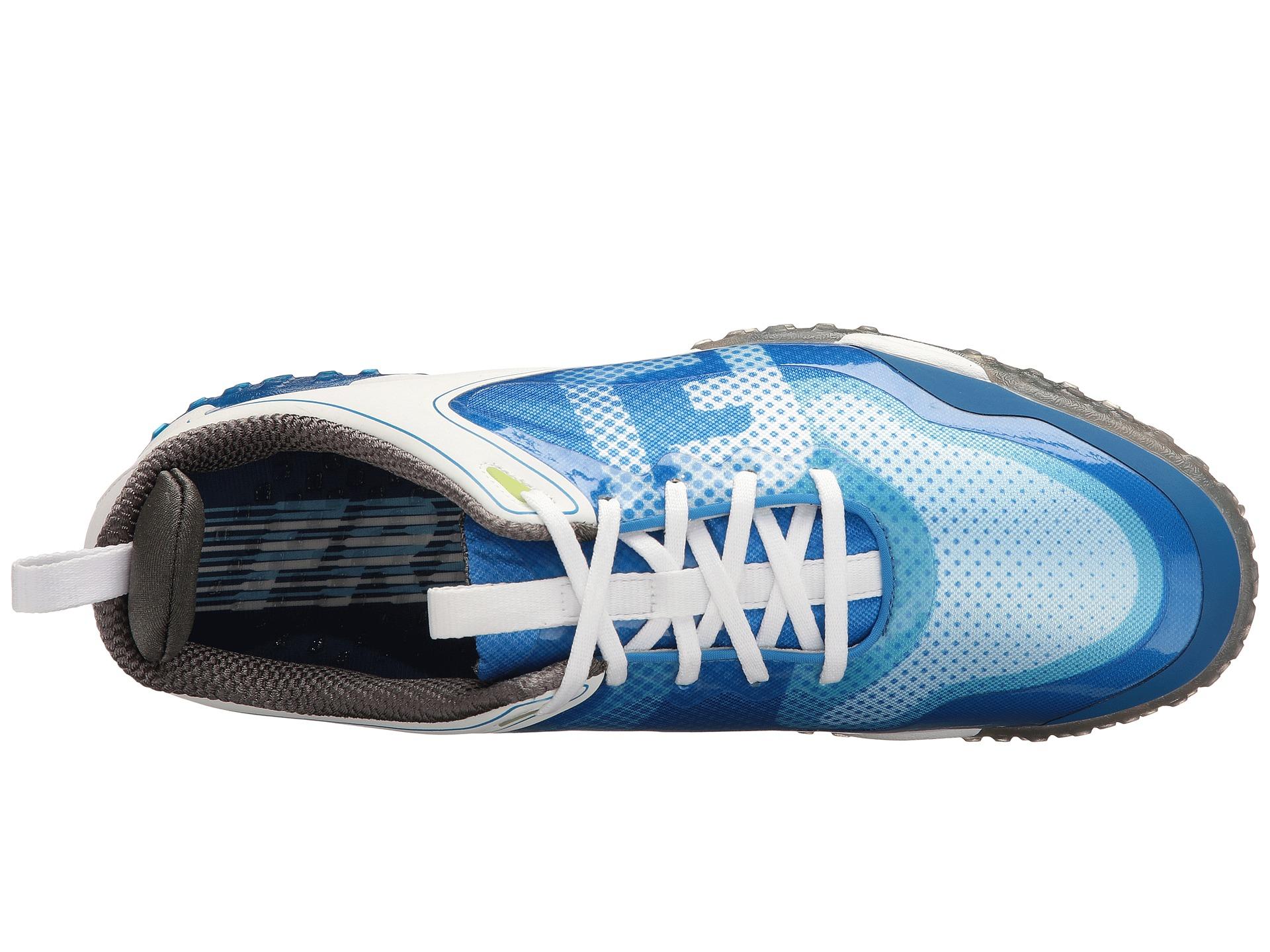 Footjoy White Blue Saddle Golf Shoes For Men