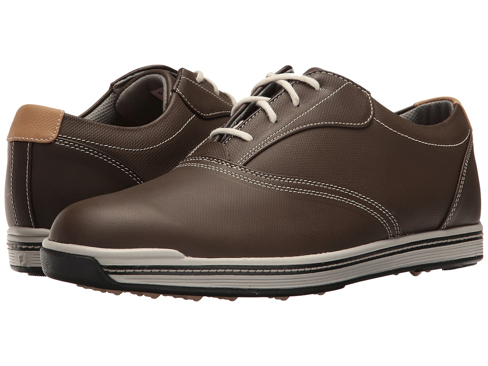 FootJoy - Contour Casual Spikeless Traditional Bal (Dark Brown) Mens Golf Shoes